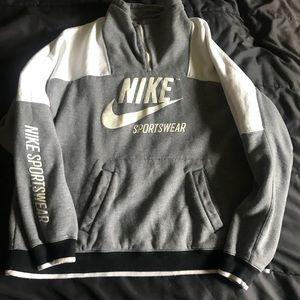 Nike crew neck zip up sweater